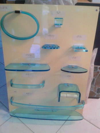 plexi glass bathroom set